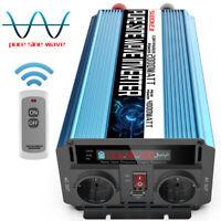 2000W/4000W Reiner Sinus Wechselrichter 12V 230V Schweißen Spannungswandler LCD