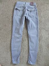 Womens True Religion jegging skinny jeans Sz  24 x 29 Misty lavender flap pocket