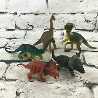 Prehistoric Dinosaur Lot Of 5 Figures Detailed Plastic Realistic Jurassic Toys