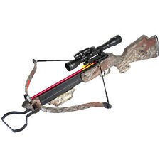 150 lb Camouflage Hunting Crossbow Bow w/ 4x20 Scope + 7 Bolts / Arrows 180 80