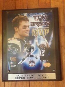TOM BRADY SUPER BOWL XXXVIII MVP WALL PLAQUE N.E. Patriots PhotoFile Ltd.Edition