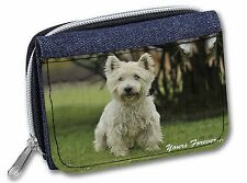 Westie 'Yours Forever'  Girls/Ladies Denim Purse Wallet Christmas Gif, AD-W10yJW