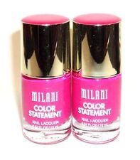 2 MILANI Color Statement Nail Lacquer Nail Polish Nail Enamel HOT PINK RAGE 09
