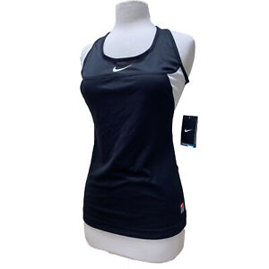 Nike Sleeveless Tank Top Women's Dri Fit Singlet Training Shirt, Black Medium