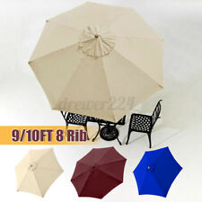 9/10ft Garden Parasol Patio Umbrella Cafe Sun Shade Canopy Replacement Cover