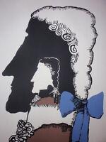 PHANTOM ON HORSEBACK / Cuban Silkscreen Poster by BACHS for Hungarian Movie CUBA
