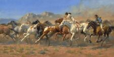 The Mestenera by Andy Thomas Limited Edition Horses Print 17x34.