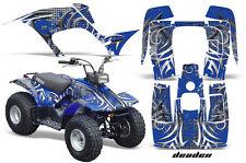 Atv Kit Graphique Quad Autocollant pour Yamaha Breeze 125 89-04 Deaden Bleu