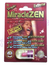 MIRACLEZEN  EXTREME MALE PERFORMANCE ENHANCEMENT LIBIDO MEN STAMINA GROW SIZE