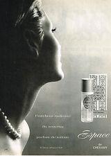 PUBLICITE ADVERTISING  1965   CHERAMY   parfum ESPACE