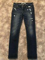 Juniors Abercrombie & Fitch Distressed Denim Jeans Size 4R 27/33