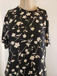 Pendleton Women's Blouse And Skirt Set Black Floral Size 4 Top Size 10 Skirt