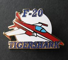 TIGERSHARK F-20 NORTHROP FIGHTER JET LAPEL OR HAT PIN BADGE USAF DOD 1.5 INCHES