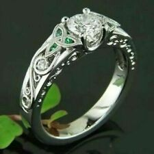 14k White Gold 2.2 Ct Diamond Engagement Wedding Ring Pear Double Halo