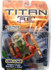 Titan A.E. Deluxe Power-Crush exo suit and Cale with battle action sounds