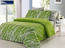 GREEN TREE Super King Size Bed Duvet/Doona/Quilt Cover Set Brand New