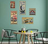 Wall Sticker Mural Picture Poster Vintage Living Room Lobby Decor Decal Dining