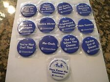 2006 PENN STATE CITIZENS BANK COMPLETE FOOTBALL SLOGAN BUTTON/PIN SET OF 13