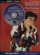 John Sebastian Teaches Beginning Blues Harmonica (1996, Sheet Music + Cd)