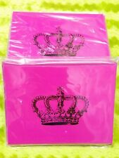 Pink Black Crown Blank All Occasions Notecards and Envelopes 6pc