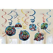 The Avengers/Marvel Avengers Swirl Hanging Foil Decorations 6 Pack