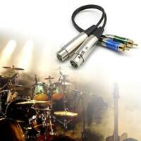 3 Foot Dual XLR Female to Dual RCA Male Patch Cable Sound HiFi Audio