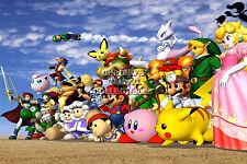 RGC Huge Poster - Super Smash Bros Melee Art Nintendo GameCube Wii U - SMA033