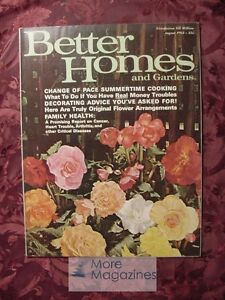 Better Homes and & Gardens AUGUST 1963 Home Building Decorating Gardening
