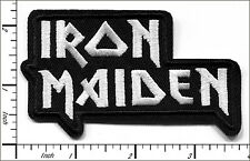 """20 Pcs Embroidered Iron on patches Iron Maiden Music Band 3.68""""x2.19"""" AP056Lb"""