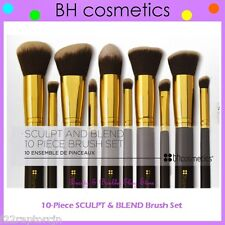 NEW BH Cosmetics 10-Piece SCULPT AND BLEND High Quality Brush Set FREE SHIPPING