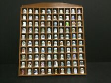 100 Assorted Thimbles in Display Case (LP120R)