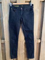 J Crew Toothpick Dark Wash Skinny Jeans Womens Size 24 Stretch Denim