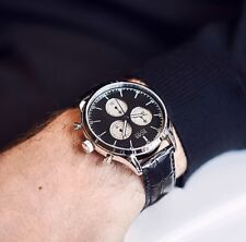 HUGO BOSS HB 1513543 Companion Cronógrafo Reloj De Hombre Piel Auténtica Negro