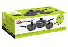 Tefal A157s546 Essential Cookware Set Black 5 Pans Saucepans