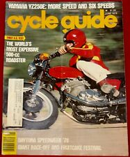 Cycle Guide Magazine June 1978 Yamaha YZ250 Very Good Condition