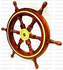 """24"""" Brass Finishing Wooden Steering Ship Wheel Pirate Vintage Wall Boat Décor"""