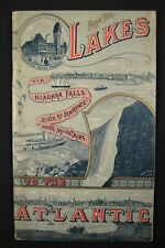 GRAND TRUNK Railway Booklet -From the Lakes to the Atlantic- ca. 1888