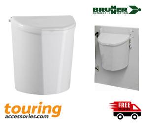 Brunner Pillar Waste Bin XL 10 litre White Caravan Motorhome Camper