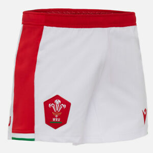 WALES CYMRU WRU Rugby MACRON Men's Welsh Home Shorts 2020/2021 Size 2XL BNWT
