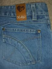 HURLEY Boot Cut Button Fly Light Blue Denim Jeans Womens Size 0 x 31