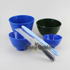 4 pcs New Dental Flexible silicone Mixing Bowls + 2 Spatulas Grip