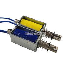 1pcs DC12V DC24V Push Pull Type Electromagnet Through Type Solenoid Magnet Plug