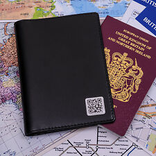 Personalised Secret Message QR PASSPORT COVER Passport Holder + Card Slots