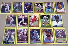 1991 Topps Wax Box Bottom Hand Cut Cards A - P (Pick Your Players)
