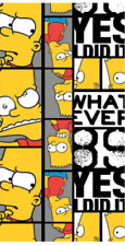 Simpsons Bath Beach Towel 100% Cotton 140 x 70 cms. Bart Simpson