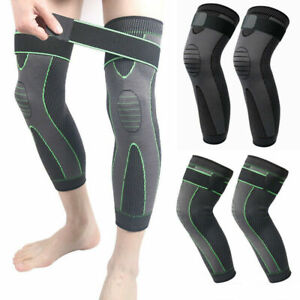 Long Knee Compression Sleeve Brace Support Joint Pain Arthritis Relief Tendoniti