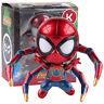 Avengers Infinity War Iron Spider-Man Mini Cute Lighting PVC Figure Model Toy