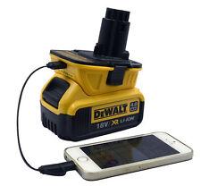 (USB Converter) DCA1820 Dewalt 10.8V 12V 18V 20V to 18Volt Slide Battery Adapter