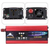 6000W 12V 24V Inverseur d'énergie 12V à 220V Convertisseur solaire de voiture