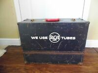 Vintage RCA ~ Metal Repairman's ~Radio / TV ~Tube Caddy Carry Case Only